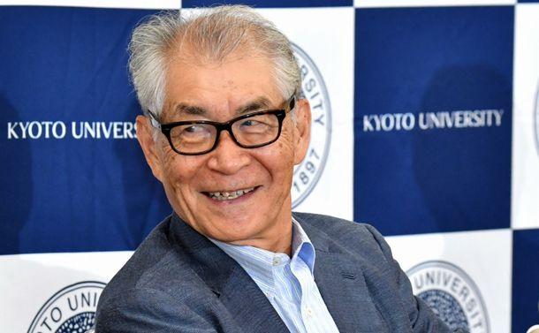 写真・図版 : ノーベル医学生理学賞賞を受賞した京都大学の本庶佑・特別教授=2018年10月1日