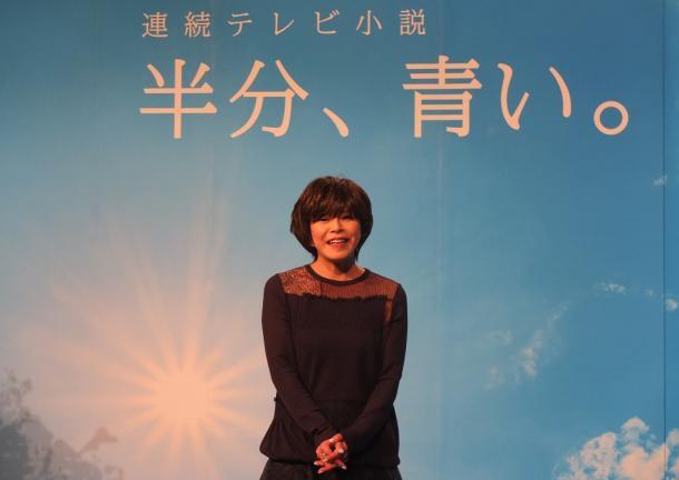 「半分、青い。」の脚本を手がける北川悦吏子さん=東京・渋谷のNHK放送センター