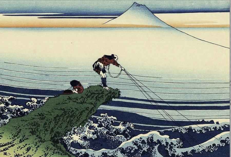 写真・図版 : 日本人のイメージは「忍耐強い釣り人」なのか