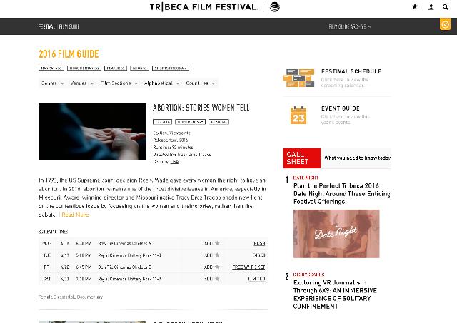 写真・図版 : 今年のトライベッカ映画祭の紹介ページ