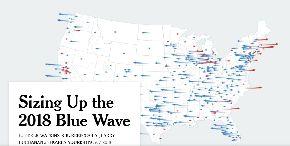 写真・図版 : ニューヨークタイムズによる下院選挙区の投票者動向の分析(ニューヨークタイムズのHPから)