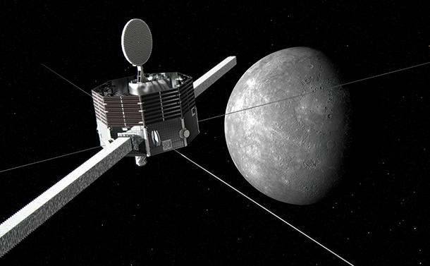 写真・図版 : 水星探査機「みお」のイメージ=JAXA提供