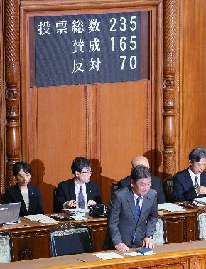 写真・図版 : 米国を除く11カ国による環太平洋経済連携協定(TPP11)の関連法が可決した参院本会議=2018年6月29日