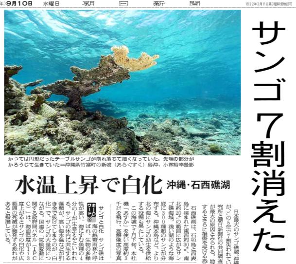 写真・図版 : 2008年9月10日の朝日新聞一面