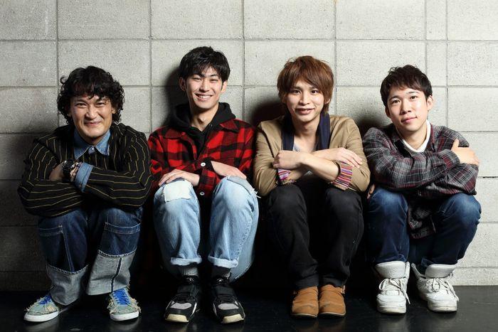 写真・図版 : 左から、石飛幸治、久保優二、澤井俊輝、千葉健玖=伊藤華織撮影