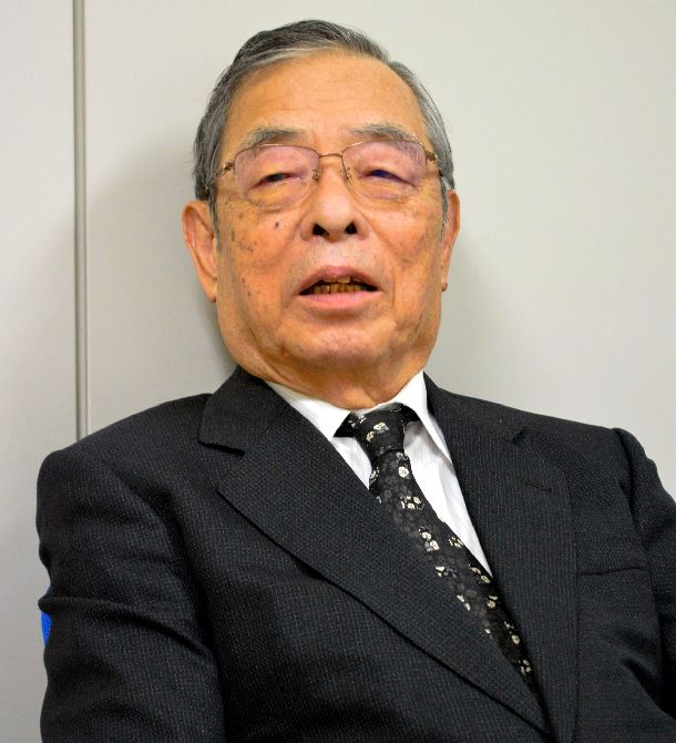 写真・図版 : 1980年代後半に通産審議官として日米半導体協議を担った黒田真氏=2018年12月、東京・虎ノ門