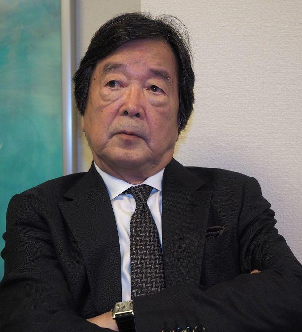 写真・図版 : 1980年代半ばに外務省北米2課長として日米経済摩擦に対応した田中均氏=2018年6月、東京・赤坂