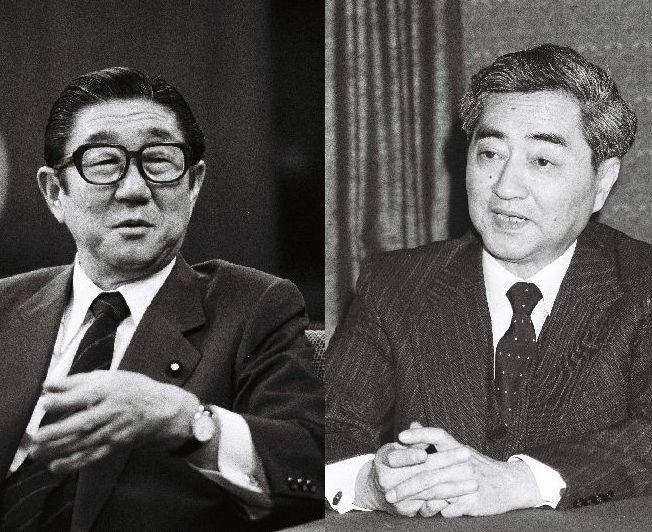 写真・図版 : 1986年にINF交渉について訓令を発した頃の安倍晋太郎外相と、受けた松永信雄駐米大使=朝日新聞