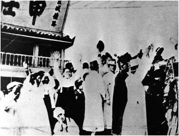 写真・図版 : ソウルの3.1独立運動=筆者の講義資料