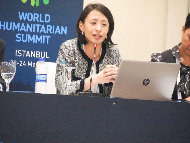 写真・図版 : 2016年5月にトルコ・イスタンブールで開かれた世界人道サミットに参加した筆者@ジャパン・プラットフォーム