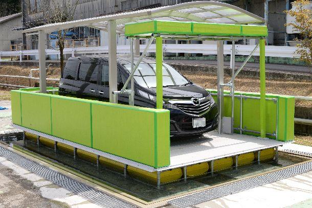 写真・図版 : ガレージごと浮くシェルカー