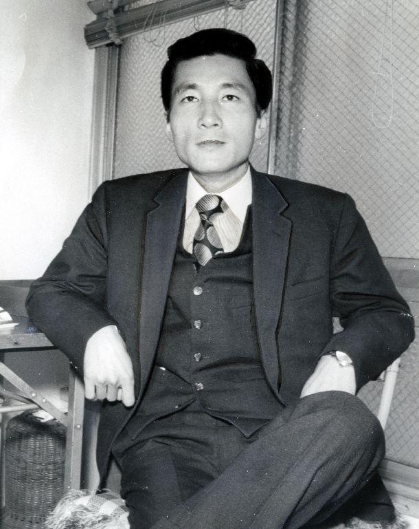 衆議院選挙の神奈川2区で初当選した自民党の小泉純一郎氏=1972年