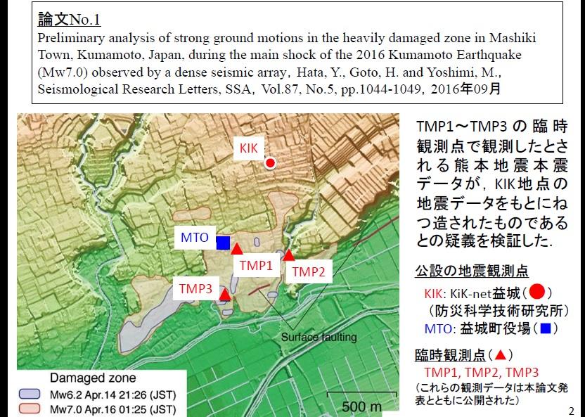 写真・図版 : 大阪大の発表資料。元准教授が臨時観測点を設置した場所