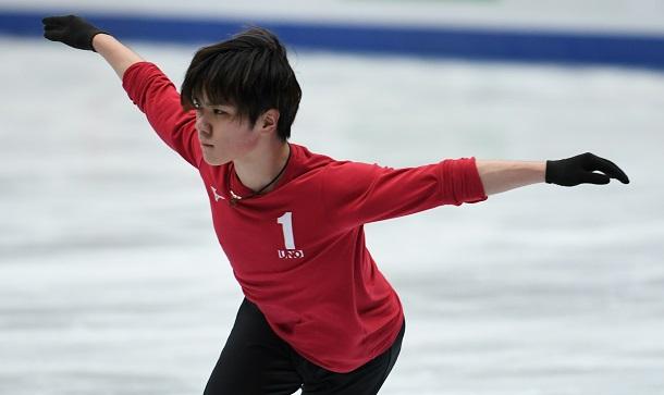 写真・図版 : 「世界選手権では優勝を狙いたい」と語った宇野昌磨。初優勝なるか