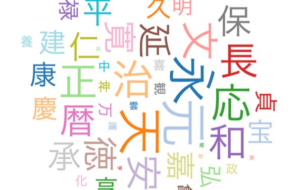 元号にまつわる5つの疑問:一番使われた漢字は?