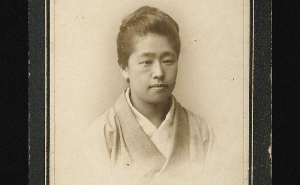 写真・図版 : 新5千円札の肖像の元になったとみられる津田梅子の写真=津田塾大学提供