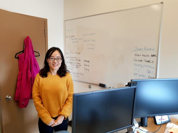 写真・図版 : カリフォルニア大学デービス校准教授のシンディ・シェン=同大学校の研究室
