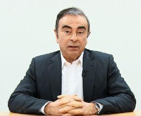 写真・図版 : 動画上のカルロス・ゴーン前会長