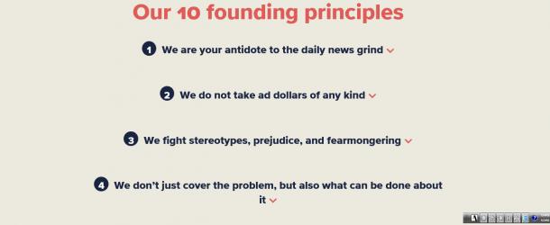 「コレスポンデント」が掲げる10の創立理念=同社のウェブサイトから