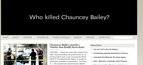 写真・図版 : 「チョウンシー・ベイリー・プロジェクト」のウェブサイト