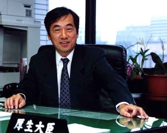 写真・図版 : 厚生大臣当時の菅直人氏=1996年10月0日