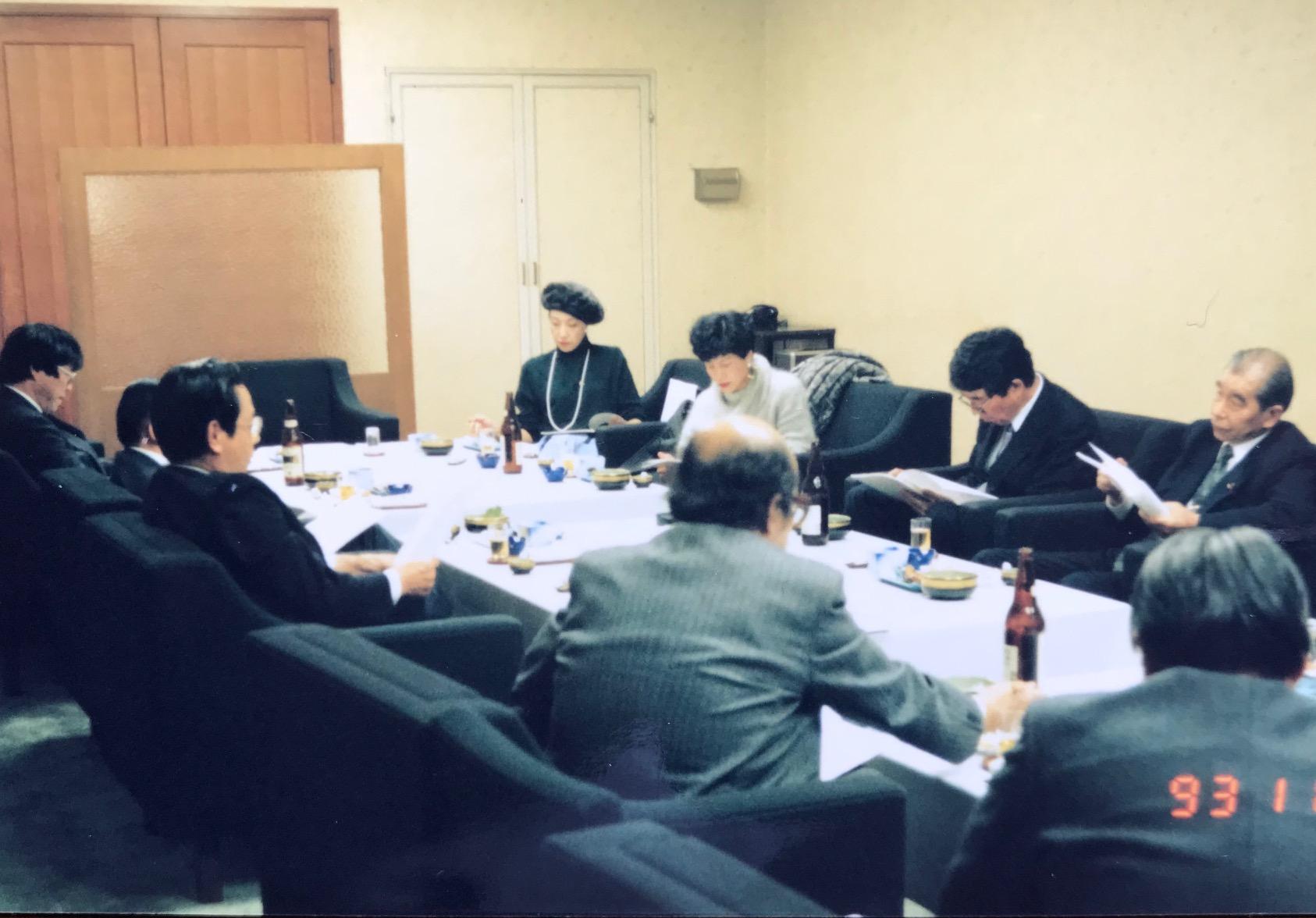 総理に政策提言したいと立ち上げた毎週1回開いていた勉強会「新政策フォーラム」=1993月11月24日