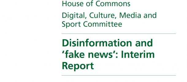 写真・図版 : 英議会の下院DCMS委員会が公表した「ディスインフォメーションと『フェイクニュース』最終報告書」