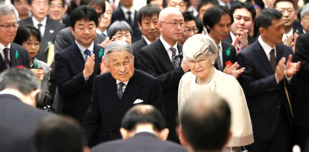 写真・図版 : 両陛下、最後の皇居外公務=2019年4月26日、東京都千代田区の憲政記念館