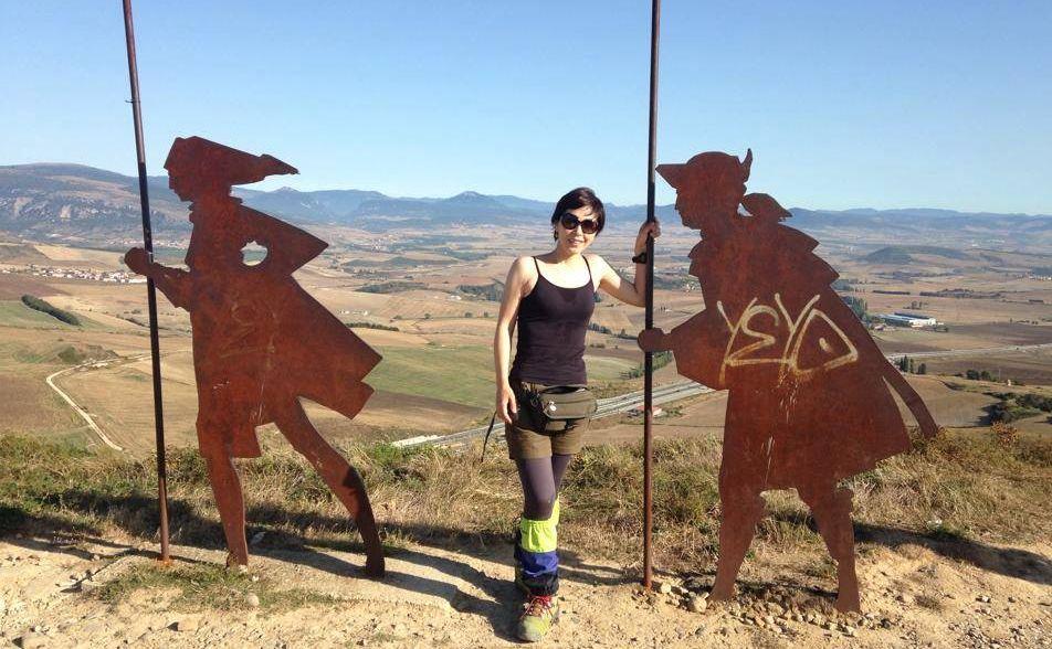 写真・図版 : 世界遺産にもなっているスペインの巡礼路700キロを歩いた=南雲朋美さん提供