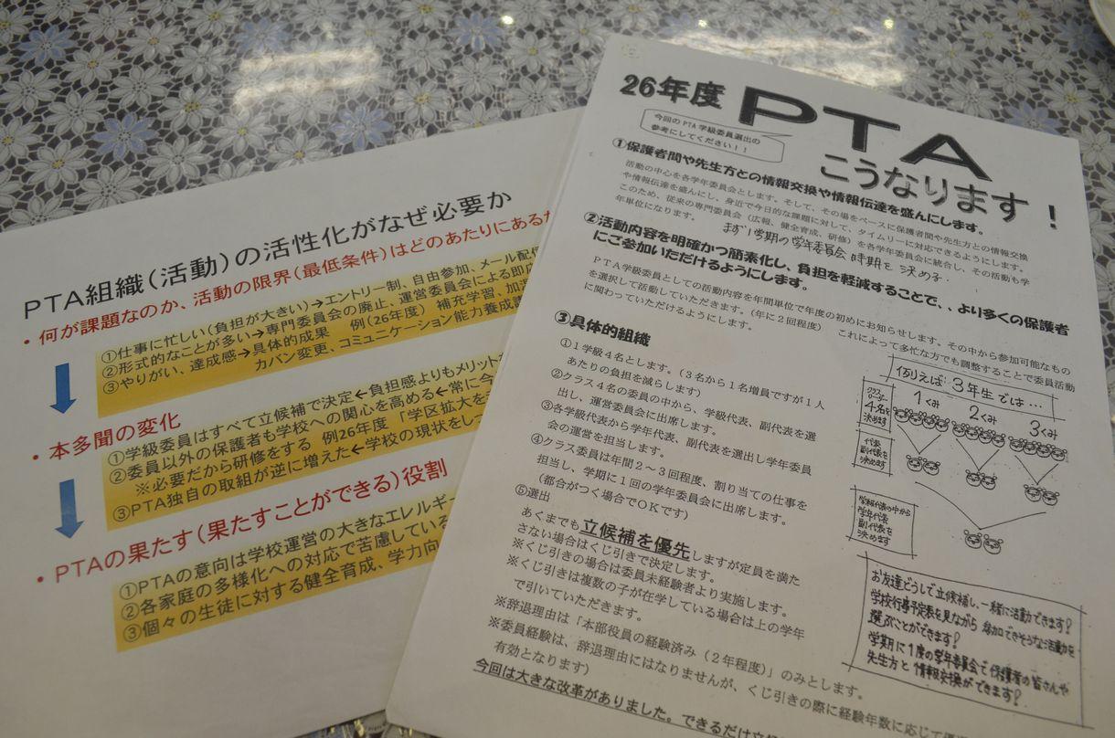 写真・図版 : 本多聞中の改革の際に配布したプリントや資料