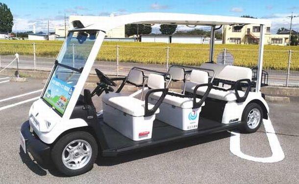 写真・図版 : 実験に使われた7人乗りカート=ヤマハ発動機のHPより