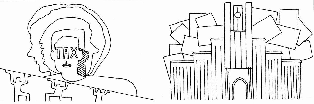 写真・図版 : 東大からお役人というエリートコースは「一生、税金を食って過ごす」ことなのだ(イラスト:渡邉孝行)