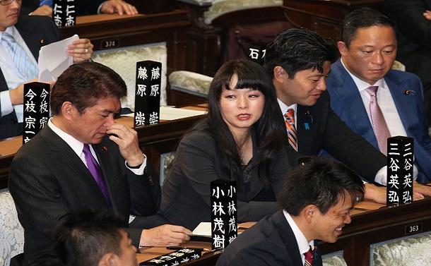 写真・図版 : 自民党の杉田水脈衆院議員=2018年10月24日