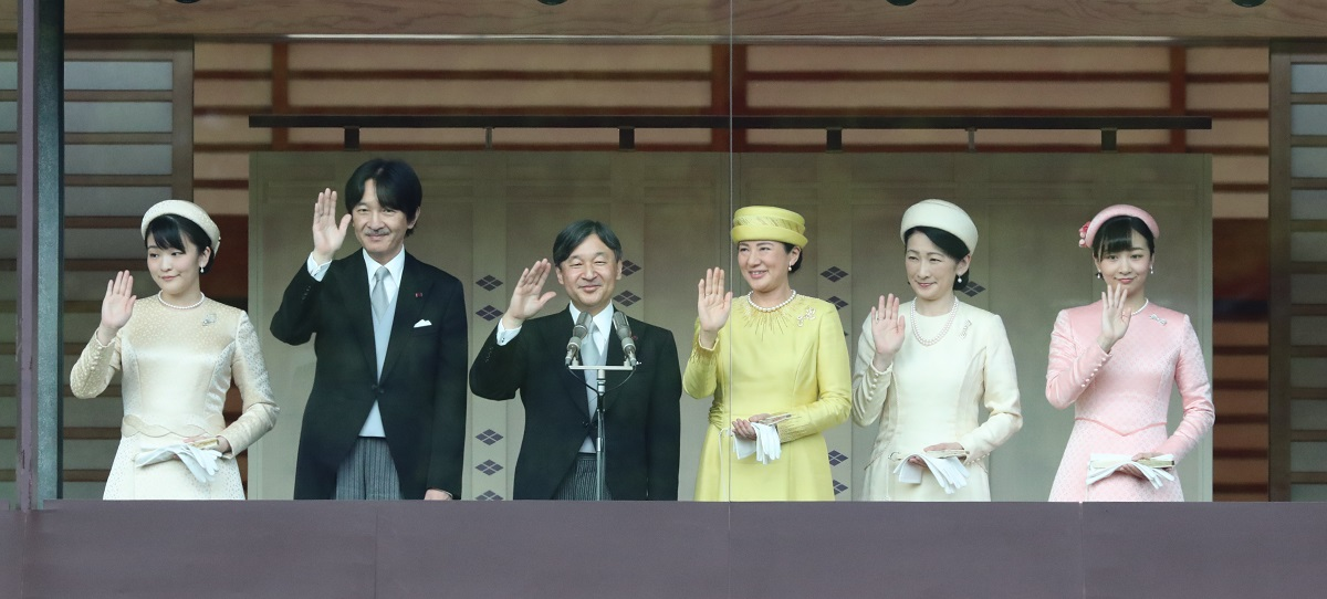 写真・図版 : 男系男子に限られる皇位継承権者は数少ない=2019年5月4日、皇居・宮殿