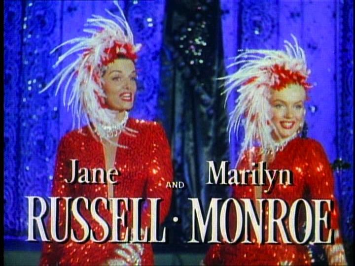 マリリン・モンローと黒髪のジェーン・ラッセル