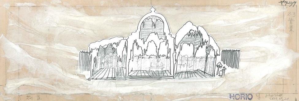 写真・図版 : 堀尾幸男が描いたロシアの町のデザイン