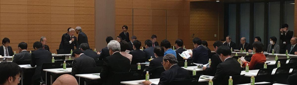 写真・図版 : 医療基本法の制定にむけた議員連盟の設立総会=2019年2月6日、前田哲兵さん撮影