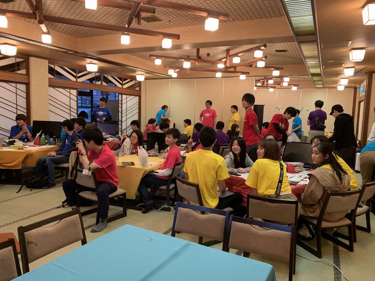 写真・図版 : GWに伊豆長岡温泉の呂回を舞台に行われた中高生対象のワークショップ