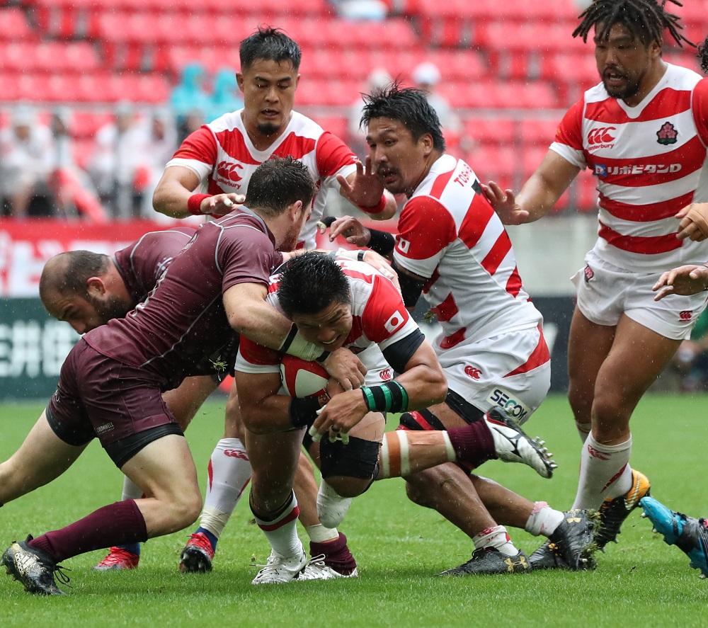 写真・図版 : 2018年6月、日本代表とジョージアとの試合=愛知・豊田スタジアム