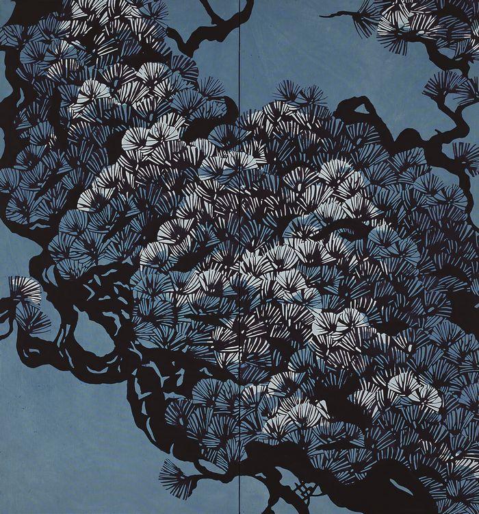 写真・図版 : 藍型染「遊龍の如し」内藤英治・作(第41回日本新工芸展に巡回展覧中)