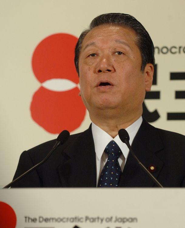 写真・図版 : 民主党の小沢一郎代表=2006年4月7日