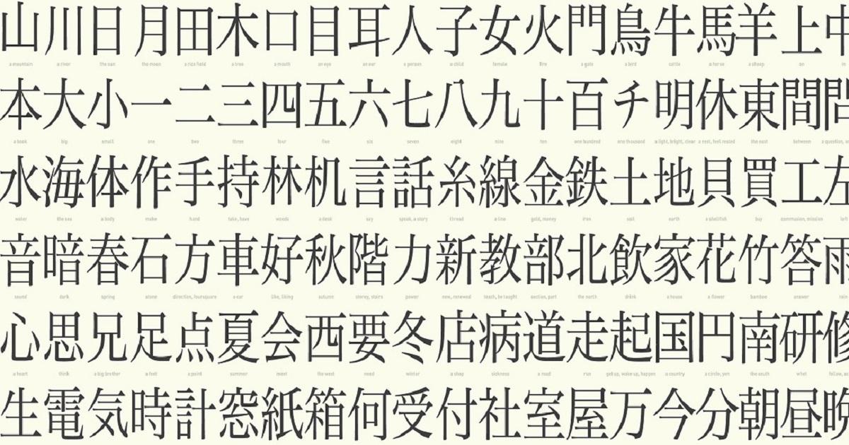 写真・図版 : 日本語には、ひらがな・カタカナに加えて、2000を超える漢字がある Photo:  Emir Simsek/Shutterstock.com