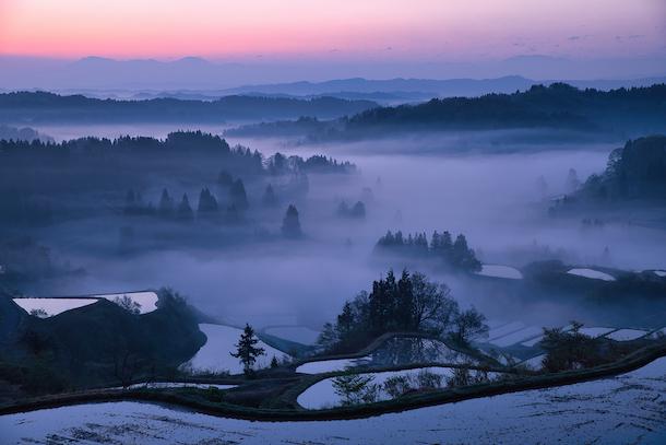 写真・図版 : 日本の美しい文化を映し出す星峠の棚田、異世界に導かれるような不思議な朝を過ごす