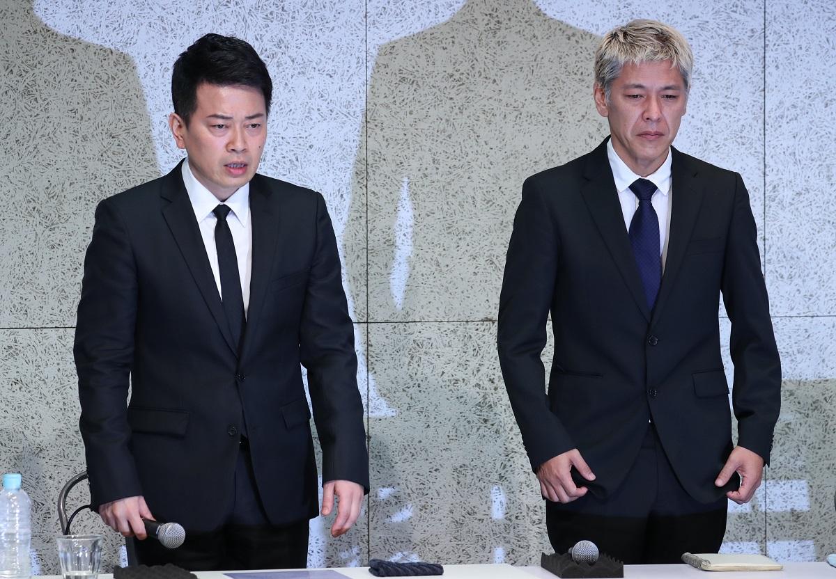 写真・図版 : 宮迫博之さん(左)と田村亮さんをはじめとした吉本興業の騒動は、テレビのありかたを浮き彫りにした