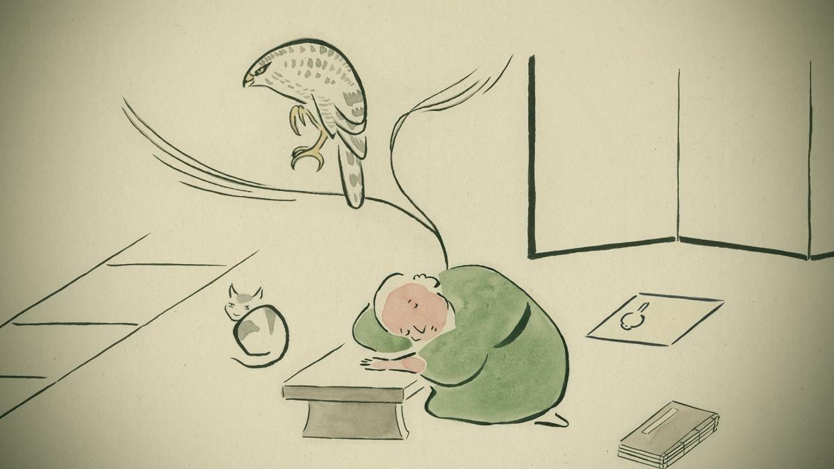写真・図版 : 山村浩二さんのアニメーション「ゆめみのえ」のワンシーン