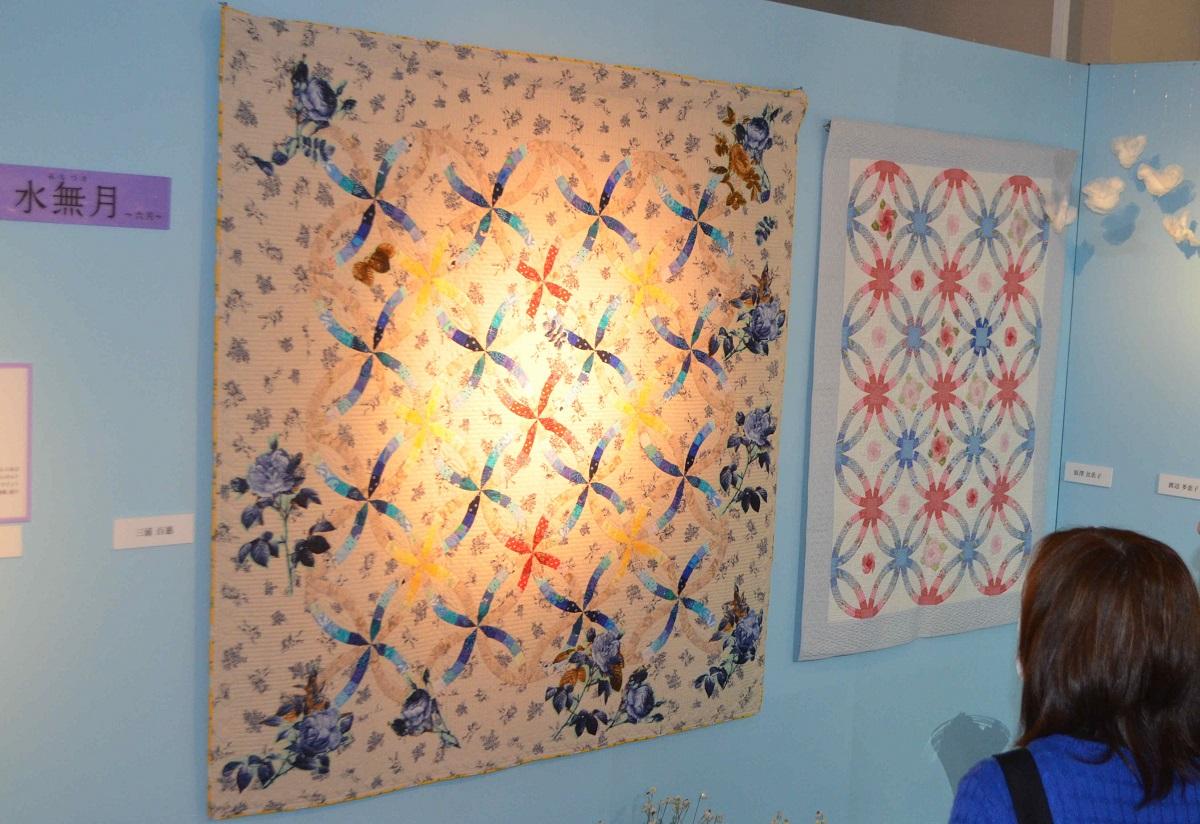 写真・図版 : 百恵さんの作品も展示されたキルト展=2015年2月、埼玉・春日部