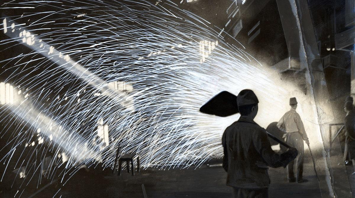 写真・図版 : 徴用工が働いていた日本鋼管の工場=1944年