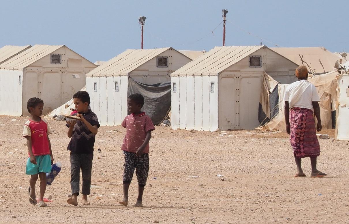 約1千人が暮らすジブチで唯一のイエメン難民キャンプ。夏場の気温は50度に達する=2月17日