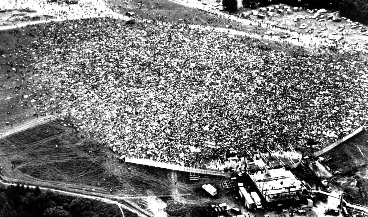 1969年8月15日から17日まで3日間にわたり、ニューヨーク郊外のベセルで開催されたロック・フェスティバル