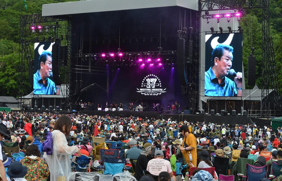 写真・図版 : 新潟県湯沢町で開催されたフジロック・フェスティバル=2019年7月